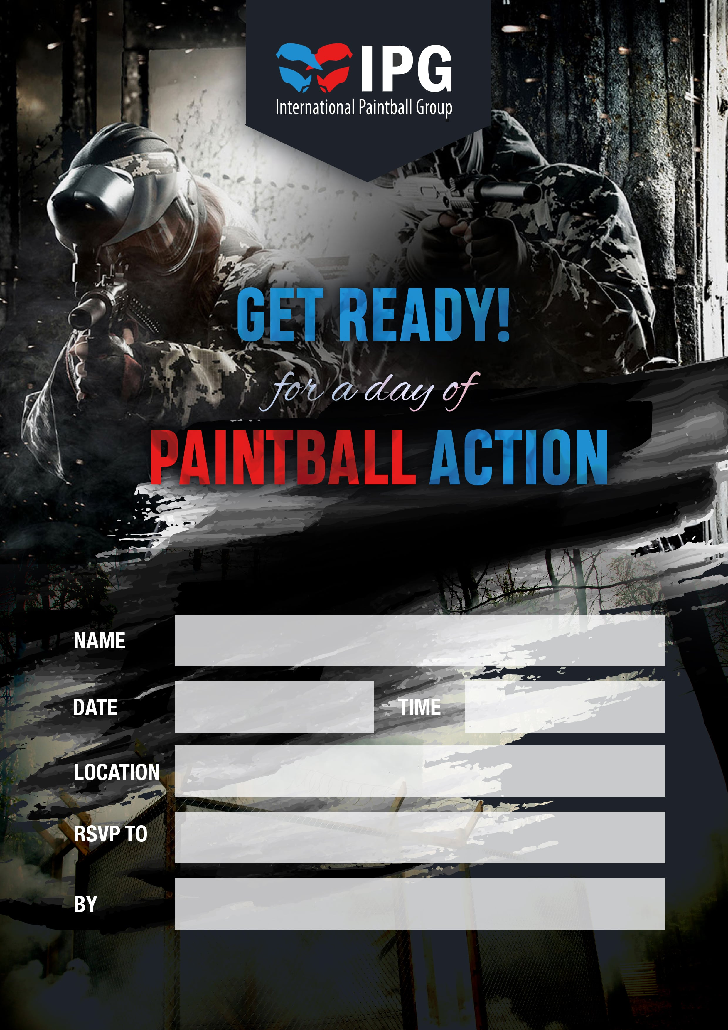 International paintball group free birthday party invitations download download download download stopboris Images